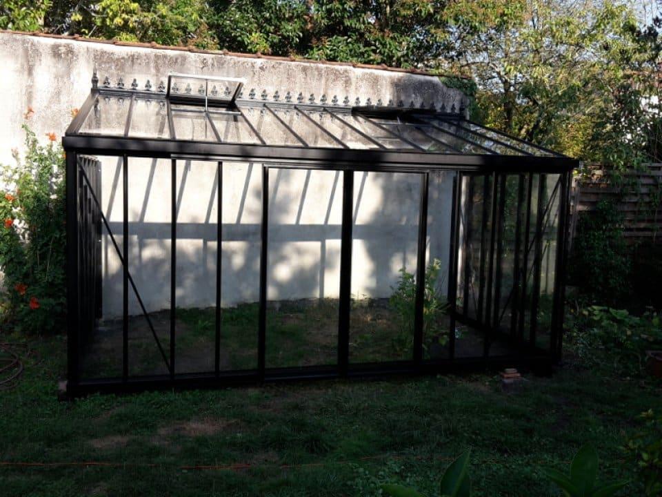 Montage d'une serre orangerie en forme de T au Plessis Grammoire (49) vue 3