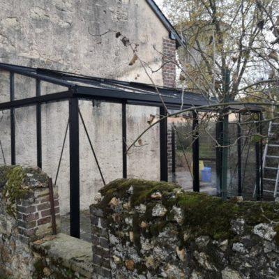 Implantation d'une serre adossée – Luceau (72 – Sarthe)