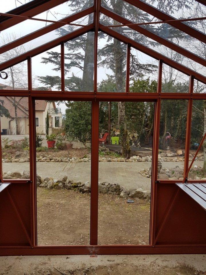 Installation d'une serre victorienne avec soubassement retro à Fixin (21) vue 4