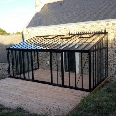 Installation serre adossée victorian – Cleden Cap Sizun (29 – Finistère)