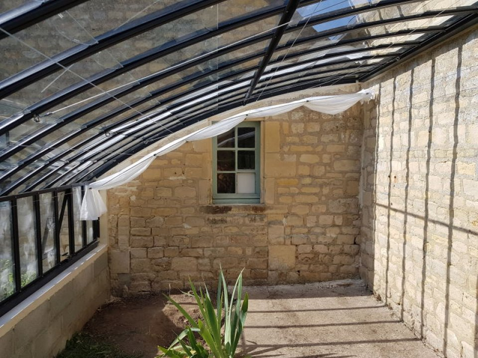 Installation d'une serre à l'ancienne adossée - Thue et Mue (14 - Calvados)vue 4