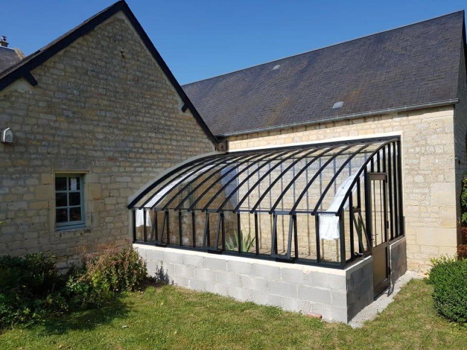 Installation d'une serre à l'ancienne adossée - Thue et Mue (14 - Calvados)vue 2