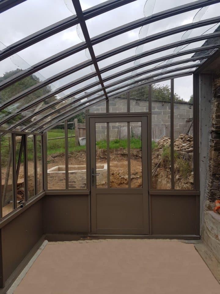 Implantation d'une serre à l'ancienne adossée - Anctoville (14 - Calvados) vue 1