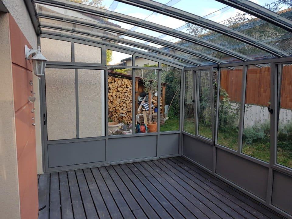 Installation d'un jardin d'hiver Lentilly (69 - Rhône) vue 1