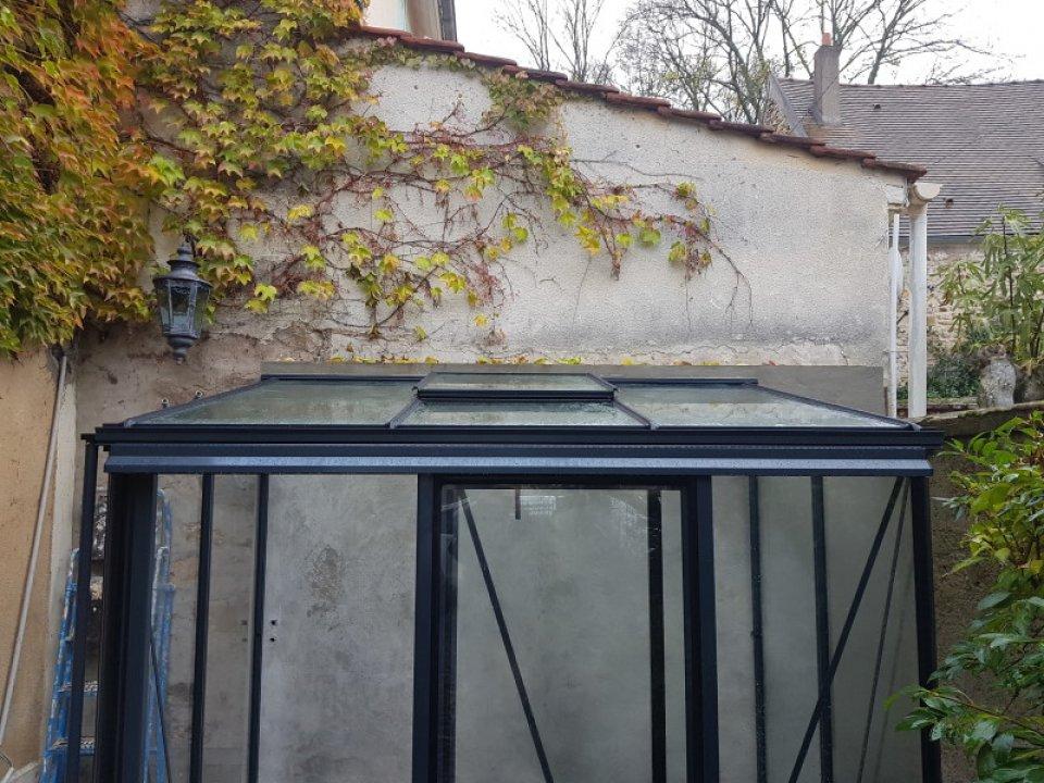 Installation d'une serre de culture victorienne adossée - Saint-Cyr-Sous-Dourdan (91 - Essonne) vue 1