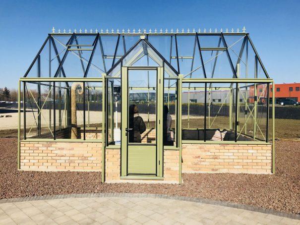 Pavillon de culture au style victorien sur muret - Structure aluminium - Victorian Mur Victorian (Vue 3)