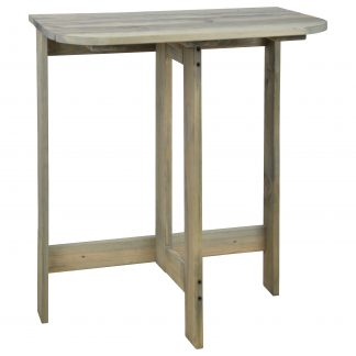 Table murale pliante en pin gris (Vue 0)