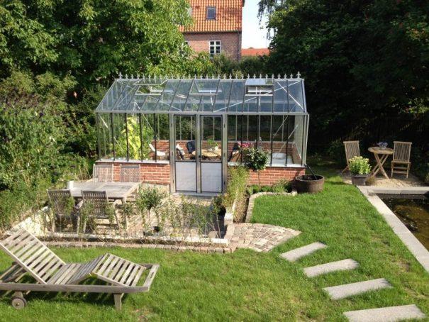Serre de jardin classique autonome sur muret - Structure aluminium - Euro Gothic Alu (Vue 3)