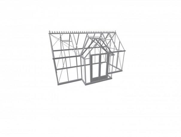 Serre victorian en T - Structure aluminium - Victorian Alu (Vue 1)