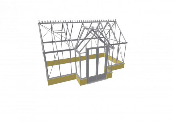Serre victorian en T avec muret - Structure aluminium - Victorian Mur Alu (Vue 0)