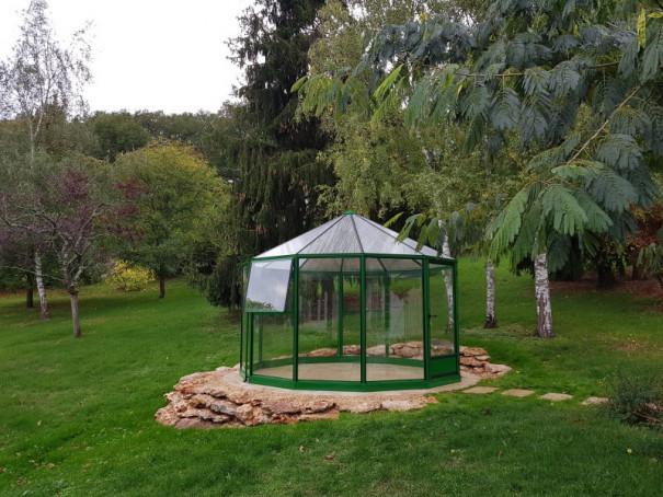 Serre pavillon en aluminium, verre trempé et polycarbonate - vue 3