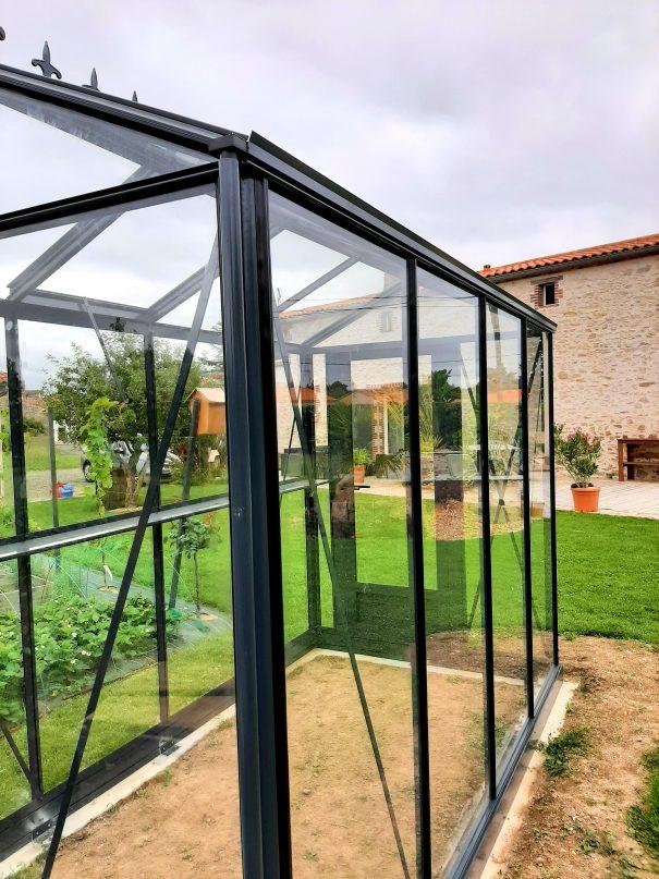 Petite serre de jardin victorienne - Structure aluminium - Euro Micro Victorian (Vue 4)
