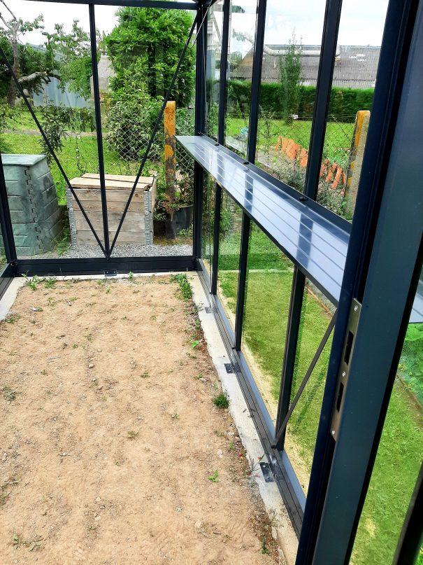 Petite serre de jardin victorienne - Structure aluminium - Euro Micro Victorian (Vue 5)