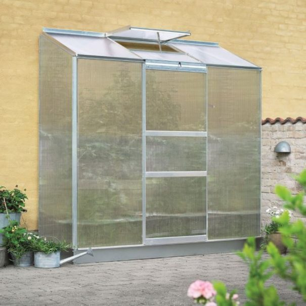 Petite serre de jardin adossée - 0.69x1.94m - Altan 3 - Halls - 1.3m² (Vue 2)