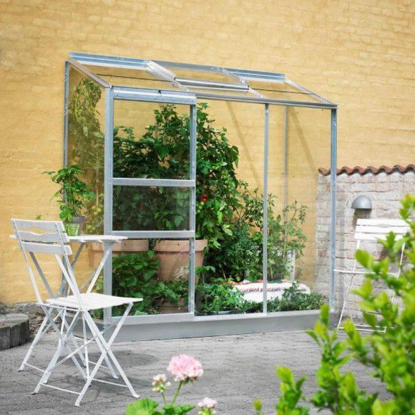 Petite serre de jardin adossée - 0.69x1.94m - Altan 3 - Halls - 1.3m² (Vue 0)