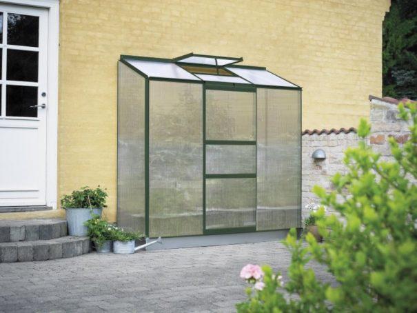 Petite serre de jardin adossée - 0.69x1.94m - Altan 3 - Halls - 1.3m² (Vue 3)