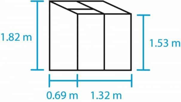 Petite serre de culture adossée - 0.69x1.32m  - Altan 2 - Halls - 0.91m² (Vue 3)