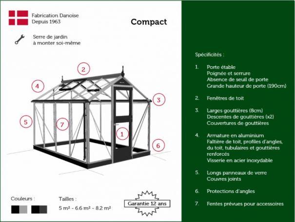 Petite serre de jardin - Structure aluminium - Compact - Juliana - 8.2m² (Vue 13)