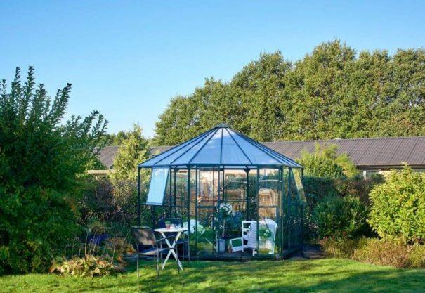 Pavillon de jardin hexagonal - Structure aluminium - Atrium - Halls - 9m² (Vue 2)