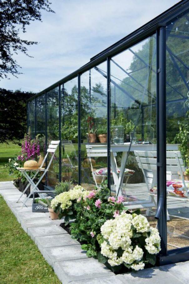 Petite serre de jardin - Structure aluminium - Compact - Juliana - 8.2m² (Vue 4)