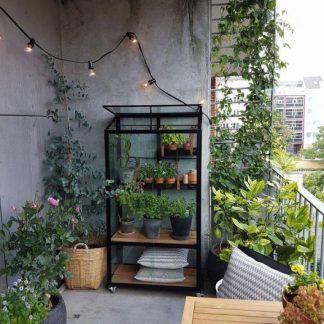 Petite serre de jardin sur roulettes - 0.40x0.80m - Urban City - Juliana - 0.32m² (Vue 0)