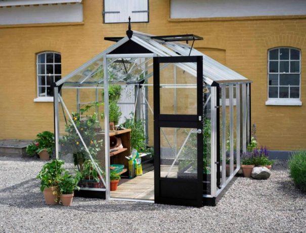 Petite serre de jardin - Structure aluminium - Compact - Juliana - 8.2m² (Vue 1)