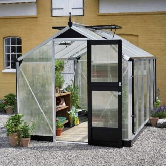 Petite serre de jardin - Structure aluminium - Compact - Juliana - 8.2m² (Vue 0)