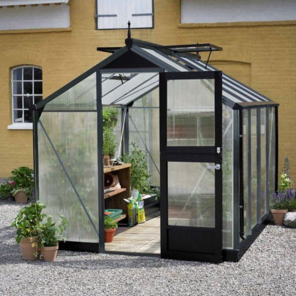 Petite serre de jardin - Structure aluminium - Compact - Juliana - 8.2m² (Vue 2)