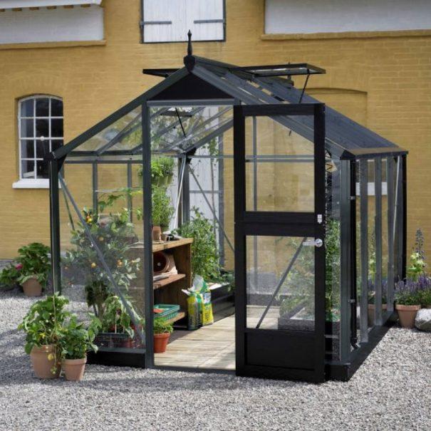 Petite serre de jardin - Structure aluminium - Compact - Juliana - 8.2m² (Vue 3)