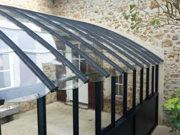 Serre à l'ancienne monopente soubassement - Structure aluminium - Éléonore Soubassement (Vue 7)