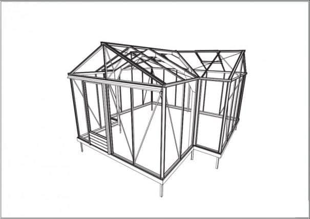 Serre d'ornement Orangerie gothique - Structure aluminium - Euro T Classic Victorian (Vue 6)