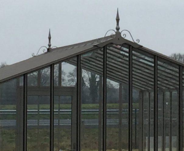 Serre d'antan soubassement double pente - Structure aluminium - Joséphine Soubassement (Vue 9)