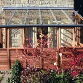 Serre de jardin adossée avec soubassement - Structure bois - Classic bois 6 adossée soubassement (Vue 0)