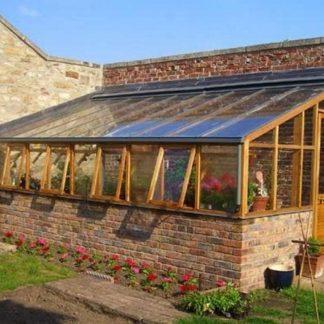 Serre de jardin adossée - Structure bois - RHS bois adossée sur muret (Vue 2)