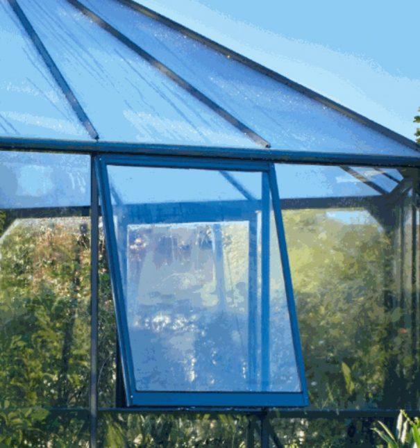 Pavillon de jardin hexagonal - Structure aluminium - Atrium - Halls - 9m² (Vue 7)