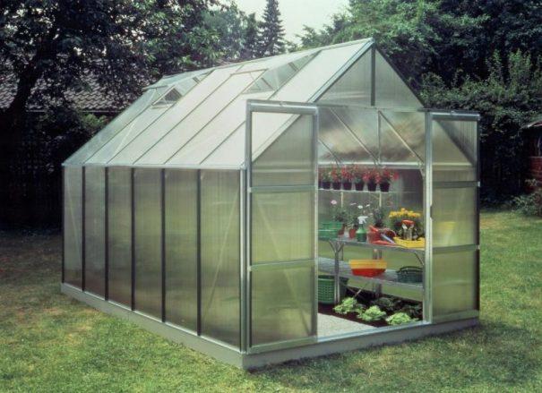 Serre de jardin classique - 2.57x3.84m - Magnum 128 - Halls - 9.9m² (Vue 0)