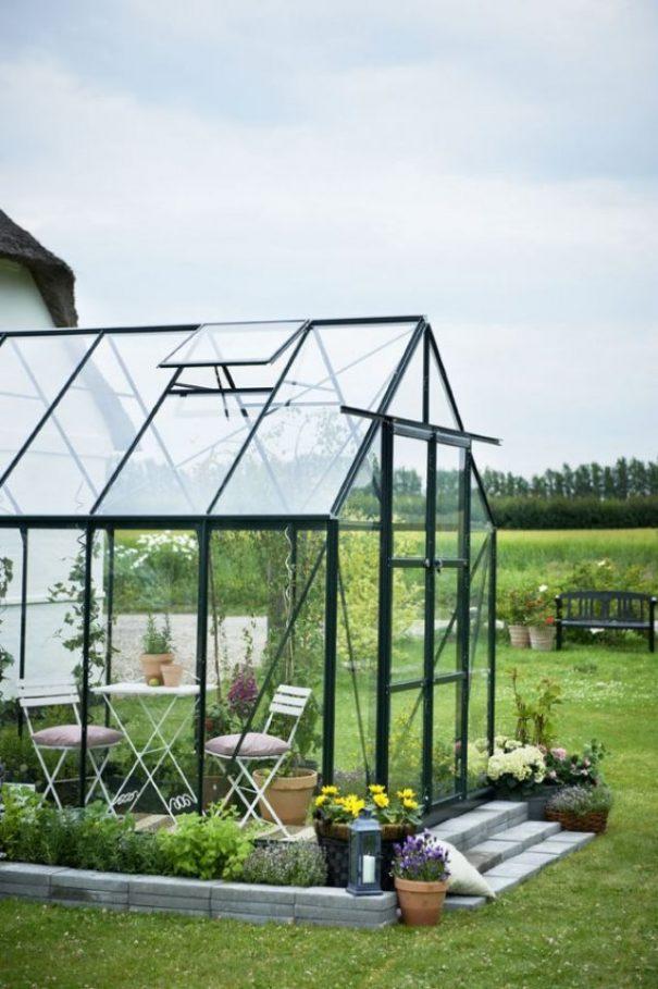 Serre de jardin classique - 2.57x3.84m - Magnum 128 - Halls - 9.9m² (Vue 3)
