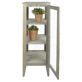 Armoire de jardin en pin gris (Vue 0)