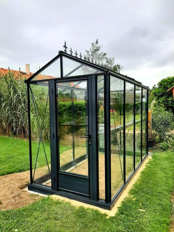Petite serre de jardin victorienne - Structure aluminium - Euro Micro Victorian (Vue 3)