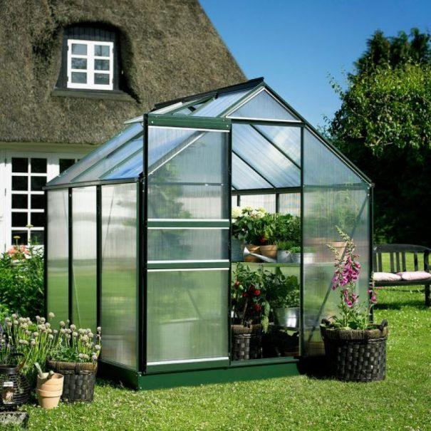 Petite serre de jardin - 1.93x1.95m - Popular 66 - Halls - 3.8m² (Vue 1)