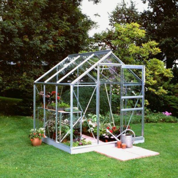 Petite serre de jardin - 1.93x1.95m - Popular 66 - Halls - 3.8m² (Vue 2)