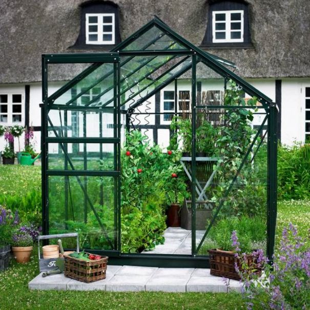 Petite serre de jardin - 1.93x1.95m - Popular 66 - Halls - 3.8m² (Vue 0)