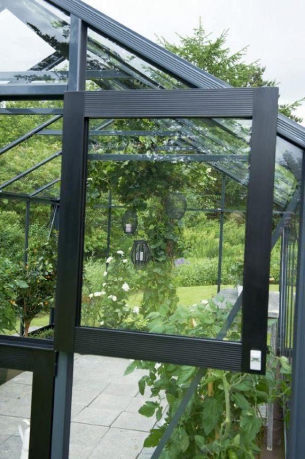 Petite serre de jardin - Structure aluminium - Compact - Juliana - 8.2m² (Vue 8)