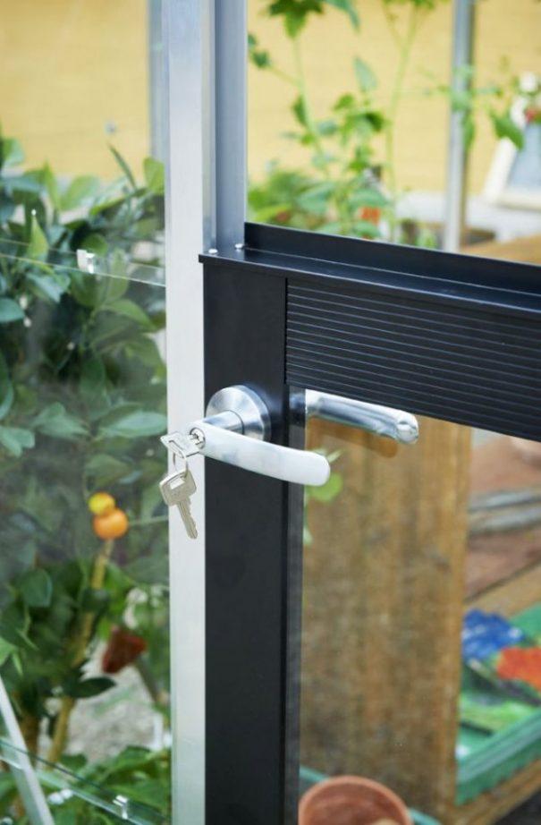 Petite serre de jardin - Structure aluminium - Compact - Juliana - 8.2m² (Vue 9)