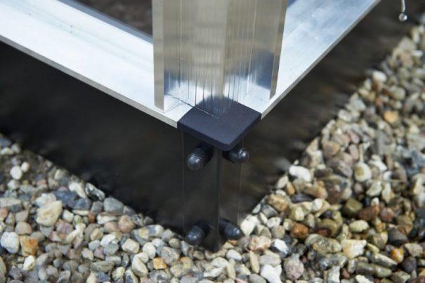 Petite serre de jardin - Structure aluminium - Compact - Juliana - 8.2m² (Vue 10)