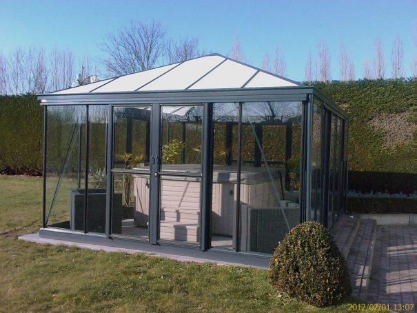 Jardin d'hiver quatre pentes - Structure aluminium - Euro Pyra Stretched Alu (Vue 0)
