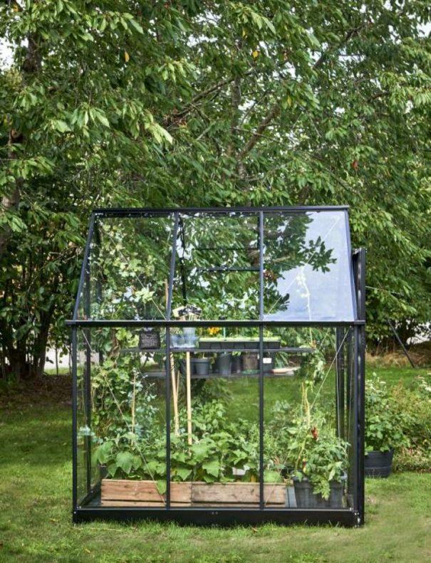 Serre de jardin double pente - 1.98x1.98m - Qube 66 - Halls - 3.9m² (Vue 1)