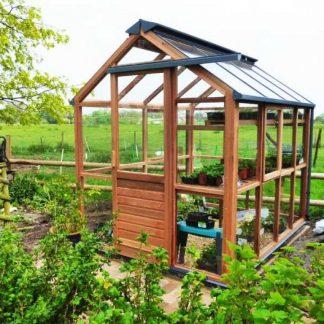 Serre de jardin autonome - Structure en bois - Classic bois 6 (Vue 0)