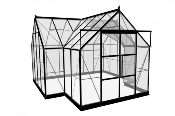Serre de culture grande surface en forme de T - 3.89x2.62x2.62x1.29m - Garden Room - Halls - 12.9m² (Vue 6)