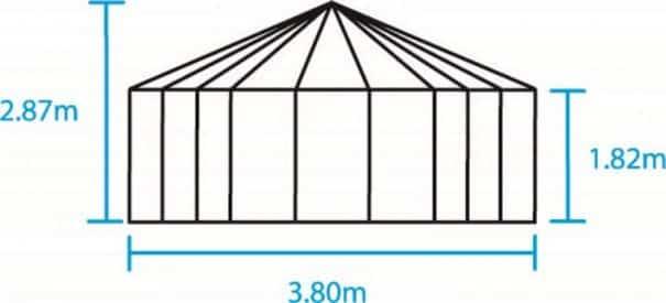 Pavillon de jardin hexagonal - Structure aluminium - Atrium - Halls - 9m² (Vue 5)